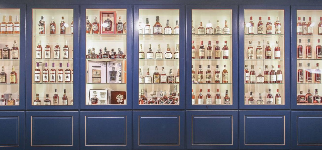 "Located across the street from the Mary Todd Lincoln House,  Justins' House of Bourbon  has been called ""a promised land for bourbon lovers."""