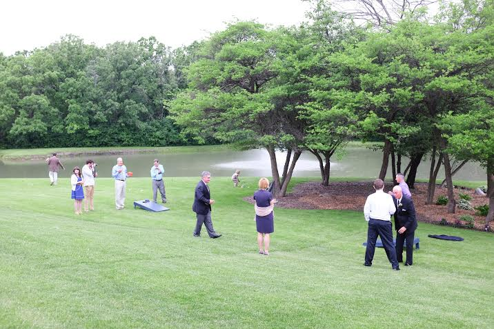 lawn games turnin' up the fun!    photo courtesy of  Joshua Costes Photography