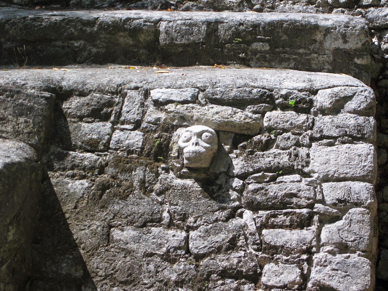 gnarly skull at Cobá