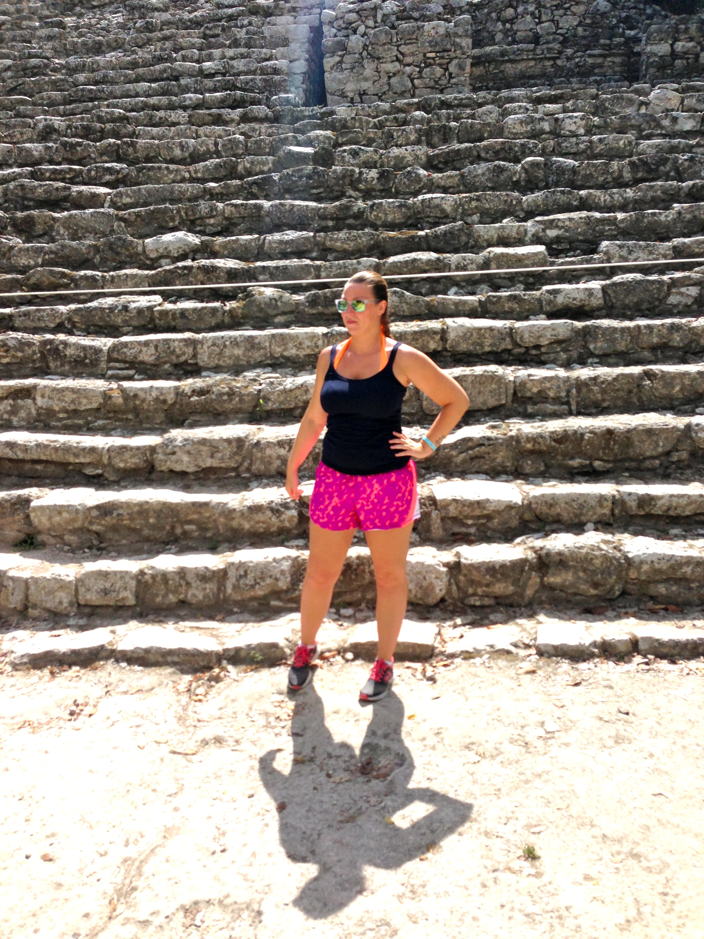 Candid shot of me just hanging out at the pyramid at Cobá