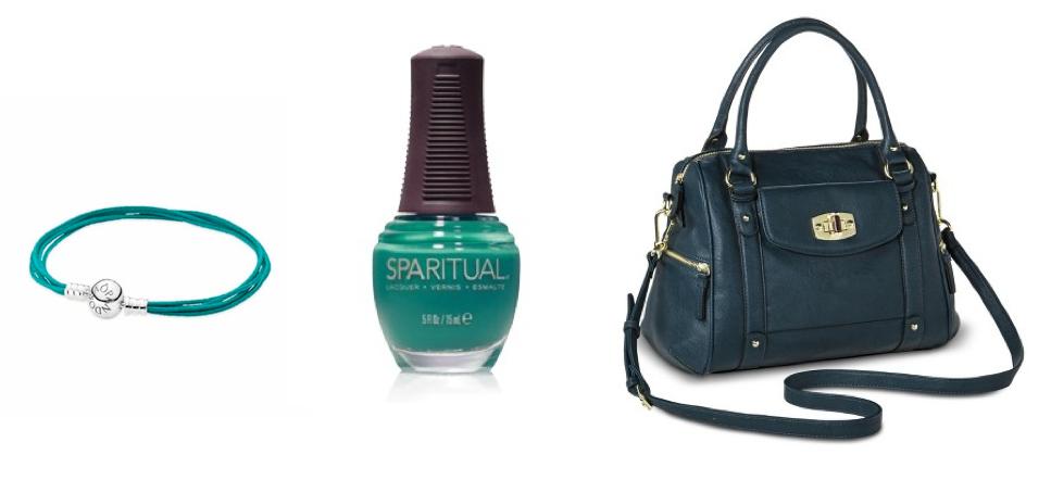 bracelet , nail polish , satchel handbag .