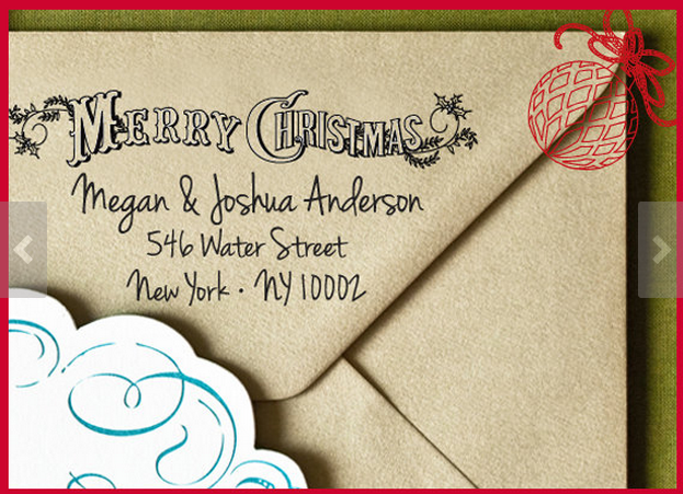 Etsy. (Click through image for this return address stamp!)