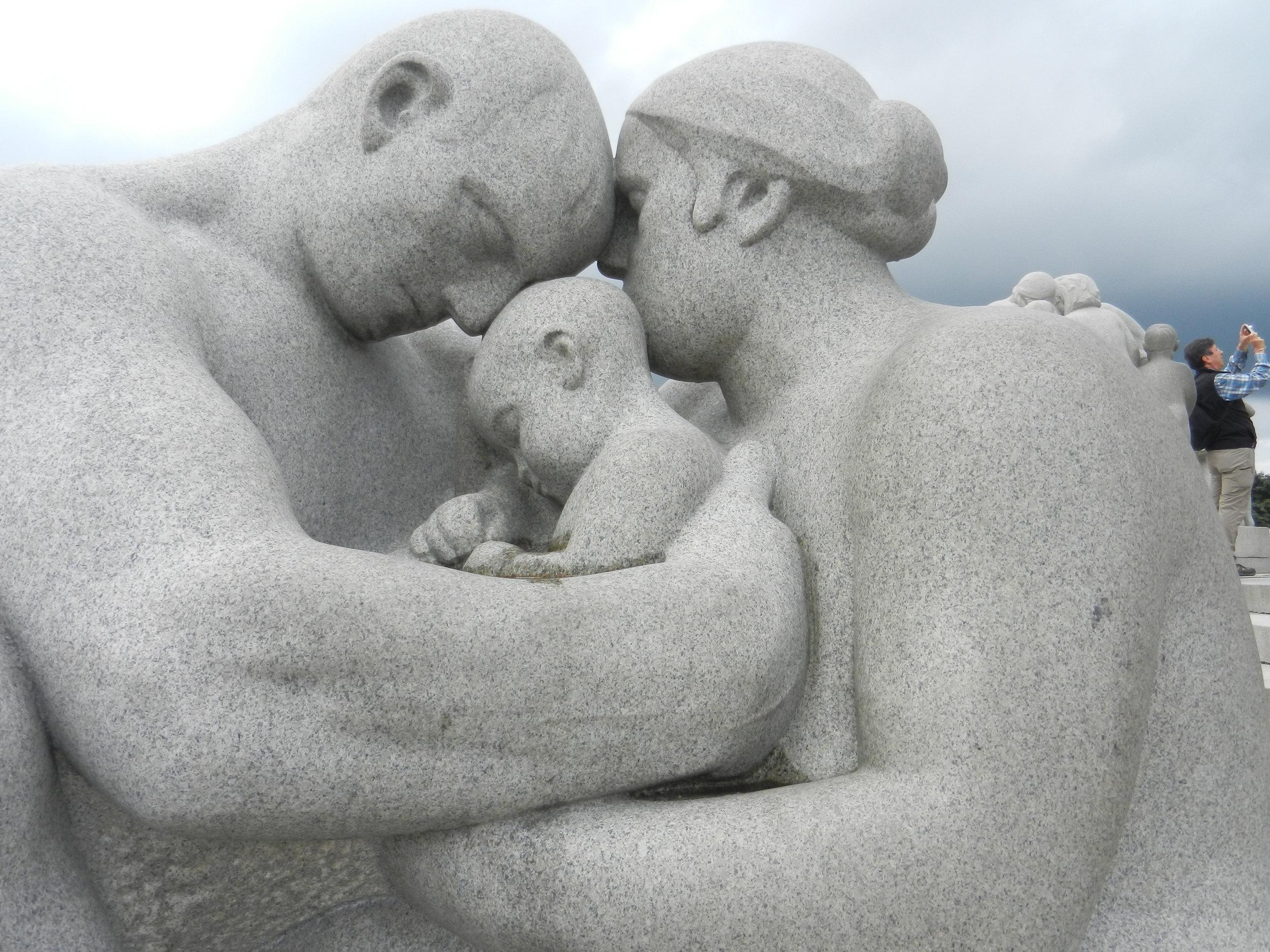 One of my absolute favorite  statues at Vigelandsparken, Oslo, Norway.