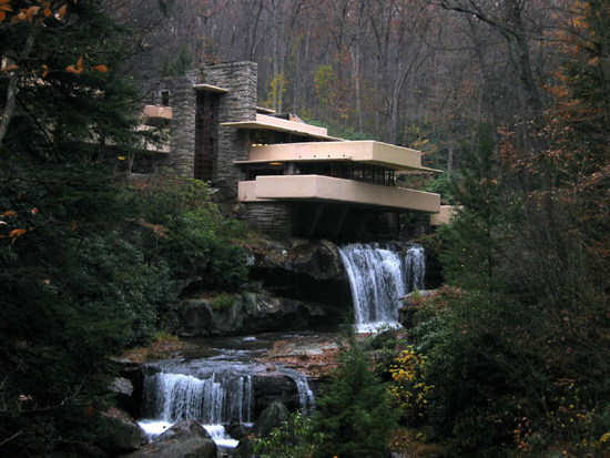 Falling Water by Frank Lloyd Wright (   Image source   )