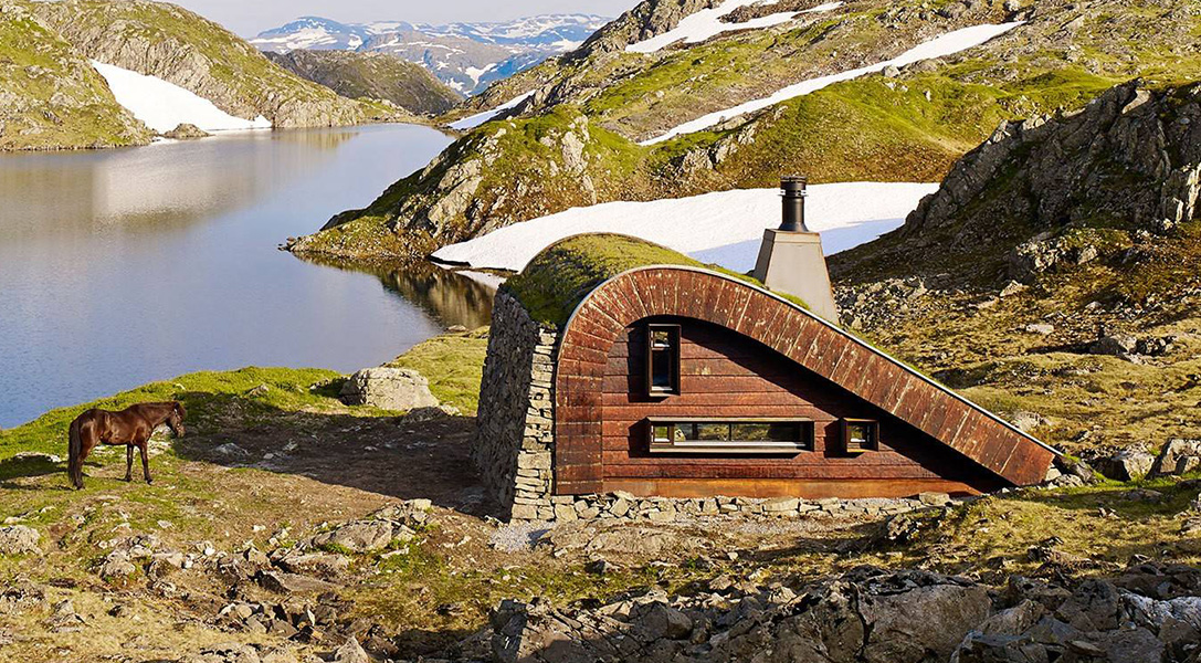 Hunting Lodge by Snohetta Architects (  Image source  )