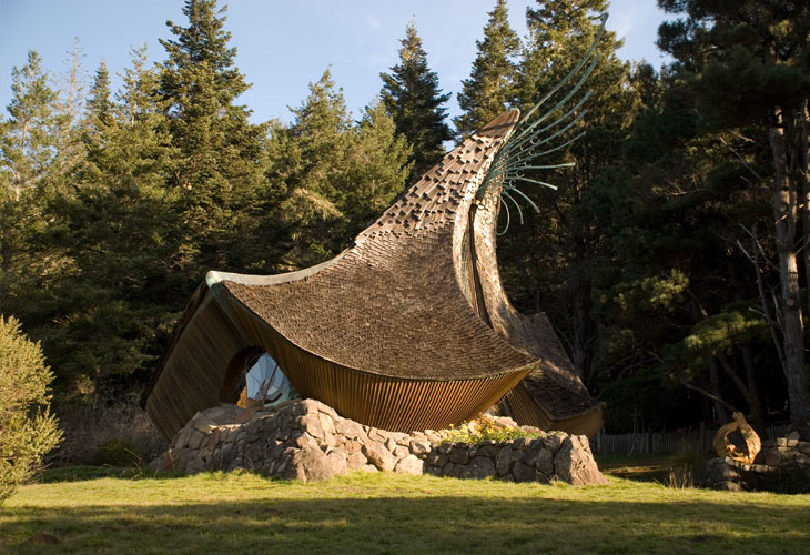 Sea Ranch Chapel by James Hubbell (  Image source  )
