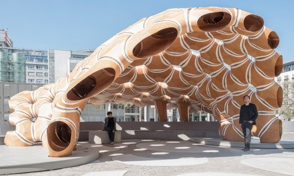 ICD/ITKE Research Pavilion by University of Stutgart (  Image source  )