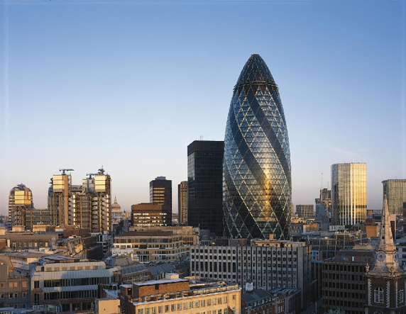 Gerkin Tower by Norman Foster (  Image source  )