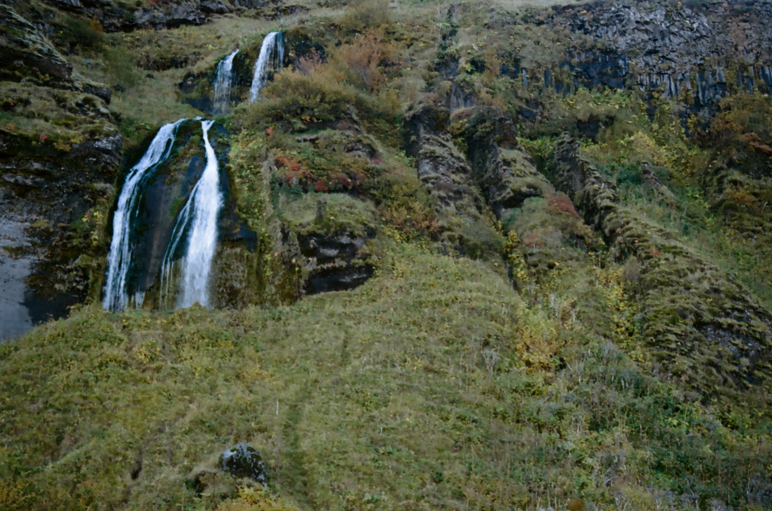 Small waterfall near Seljalandsfoss, Southern Iceland