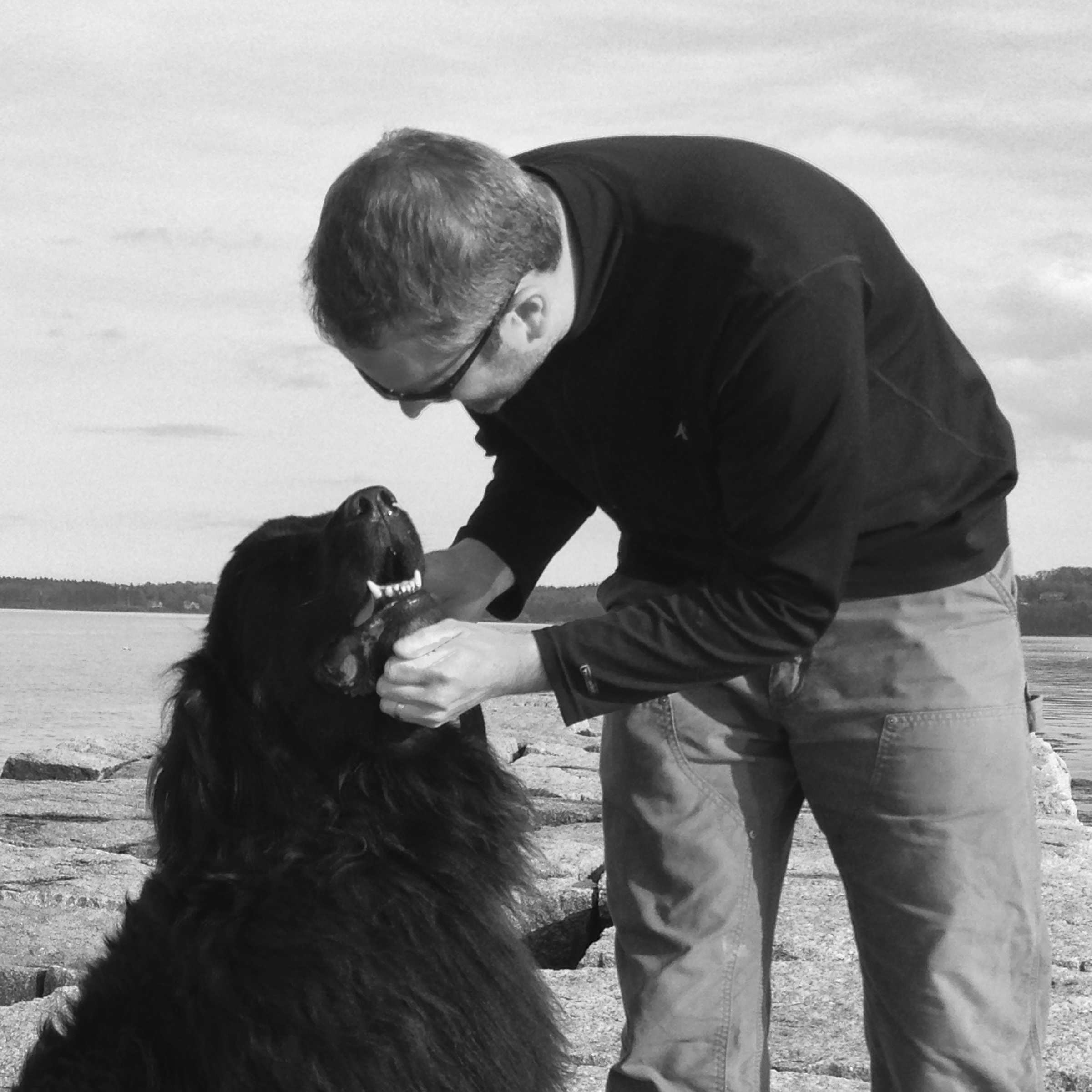 a furniture maker and a Newfoundland dog