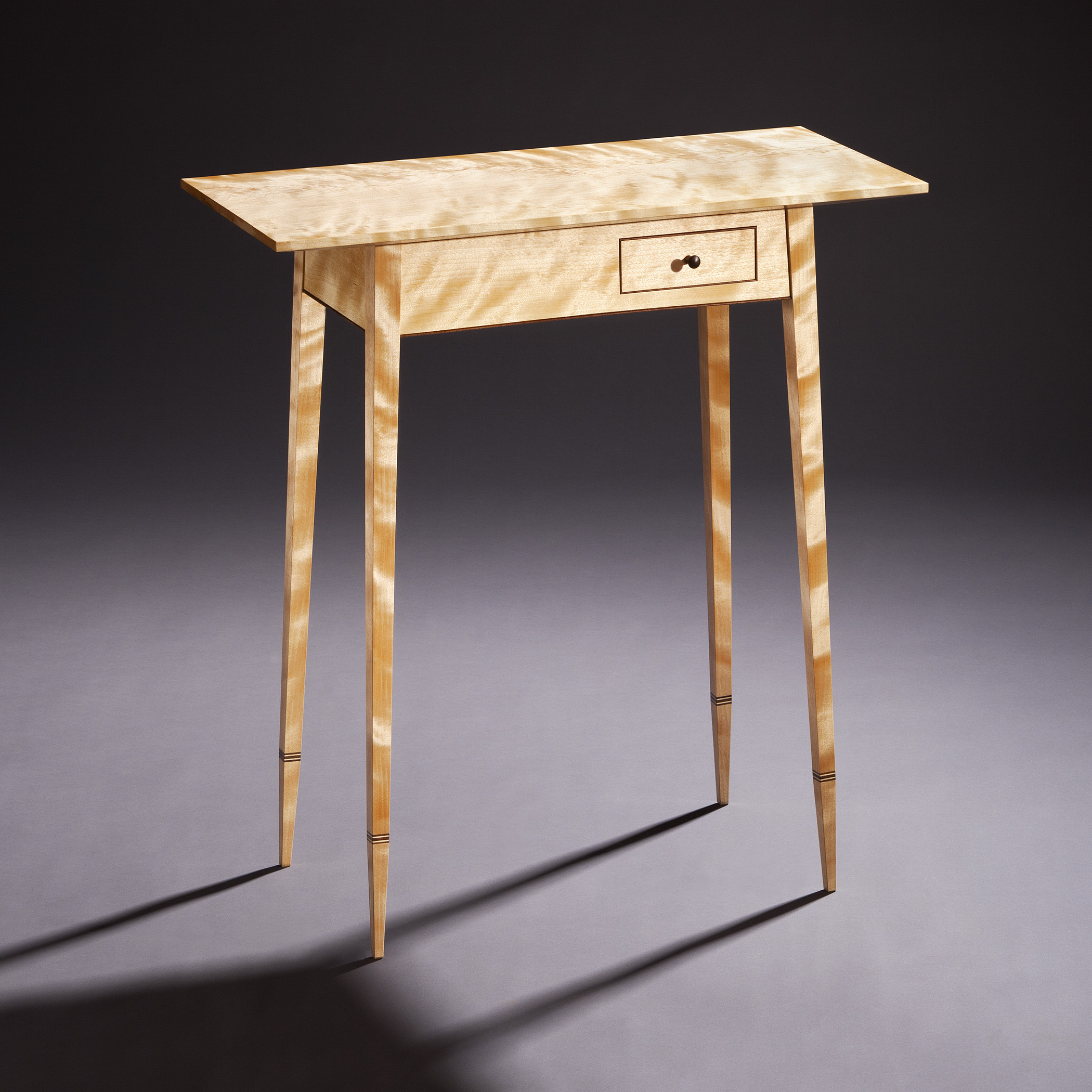 contemporary curly birch side table.JPG