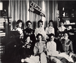 First Alumnae Chapters Chartered  Photo fromhttp://www.alphaphi.org/Timeline
