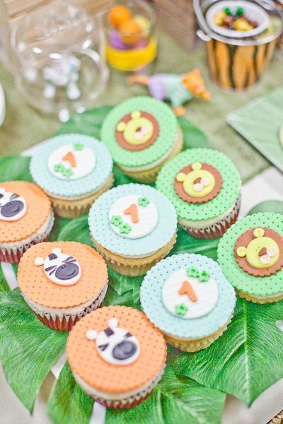 Safari Theme First Birthday Dohl Party Animal Cupcakes.jpg