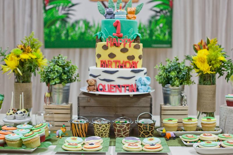 Safari Theme First Birthday Dohl Party Birthday Cake.jpg
