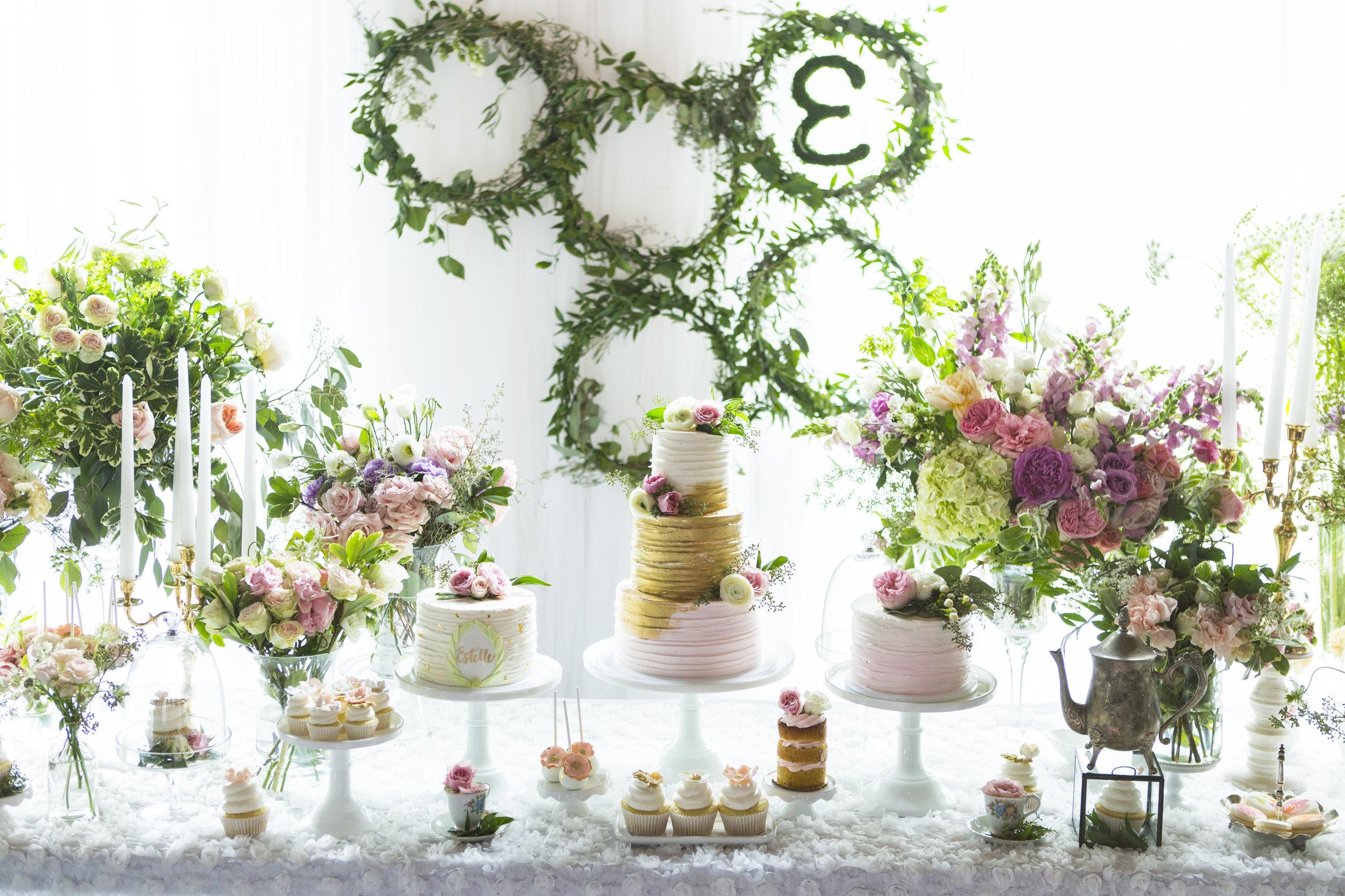 Secret Garden First Birthday Party- Korean first birthday dohl dol doljanchi nyc korean event planner dolsang flower birthday cake.jpg