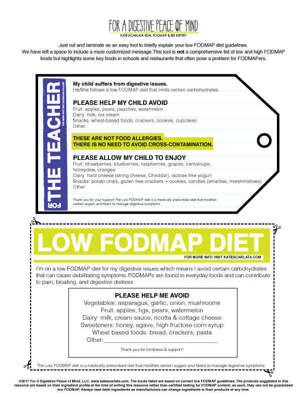 Low Fodmap Grab Go Pass Kate Scarlata Rdn Learn more about the low fodmap diet and how it's used to treat ibs and gut disorders. low fodmap grab go pass kate