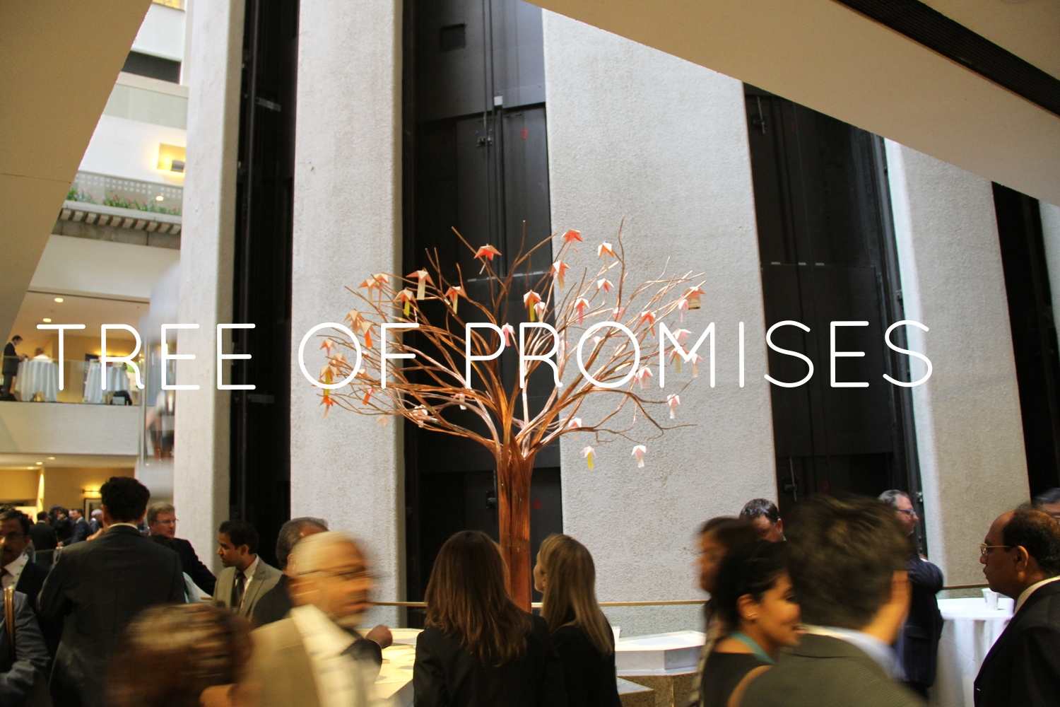 Interactive sculpture commissioned by the United Nations for the Global Compact Office Leader's Summit.