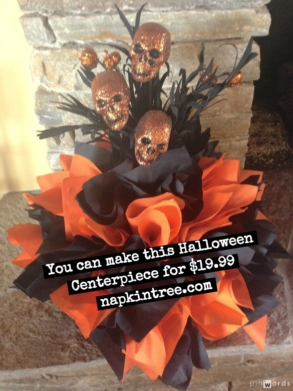 Looking for Halloween Centerpiece ideas and Halloween decorations? Check out this skeletal arrangement and others on Pinterest. Click the image for more ideas!