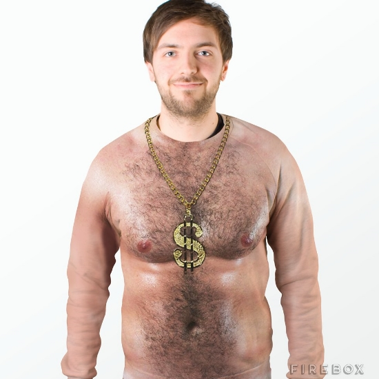 A hairy chest!  Photo courtesy of: Firebox