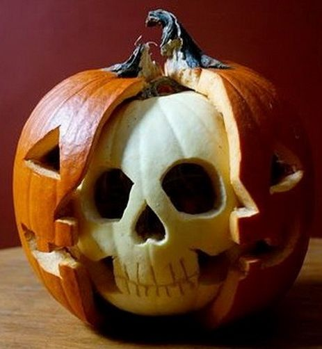 It's a skeleton with a Jack-O'-Lantern mask!