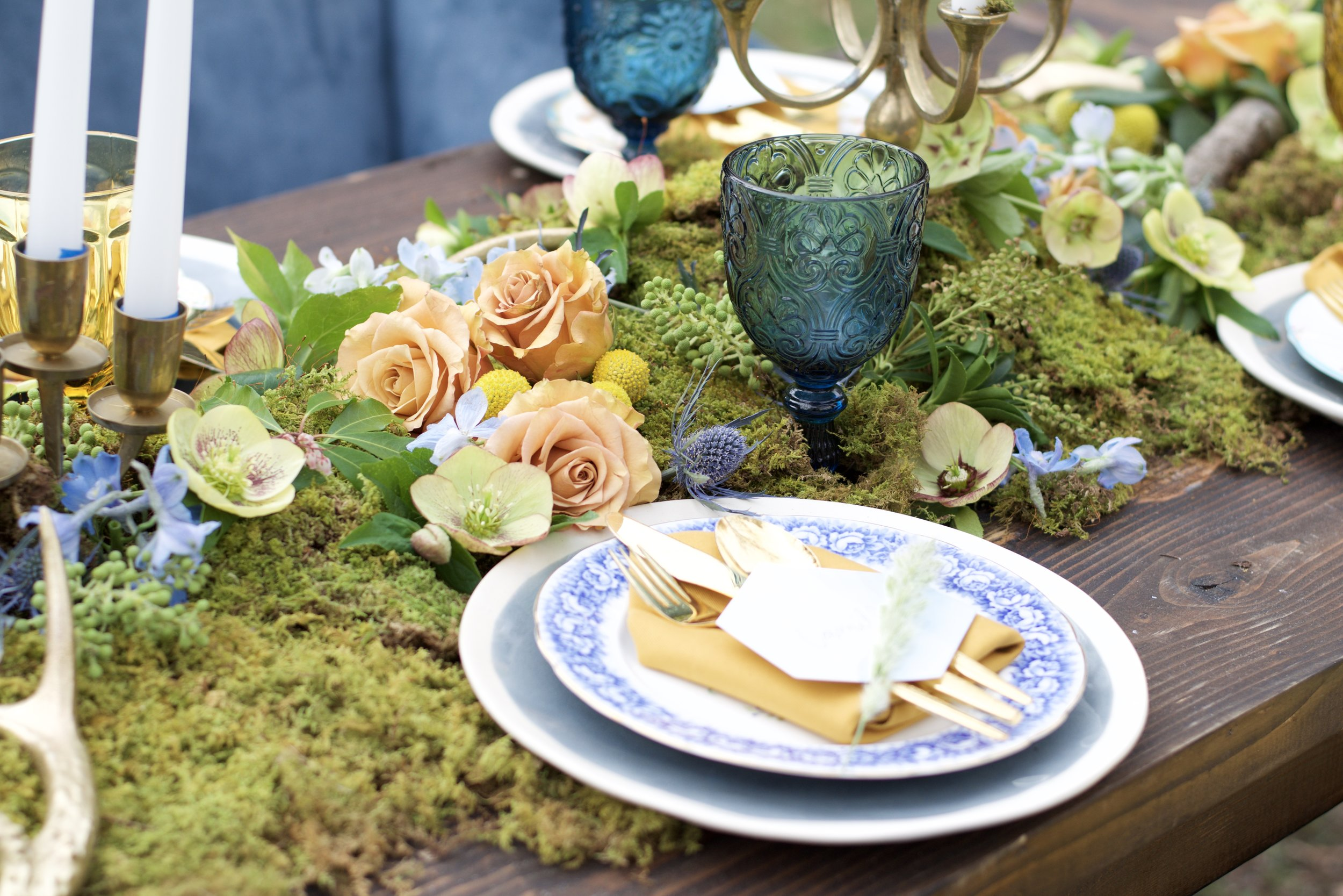 Boho Table Setting by Lark Floral