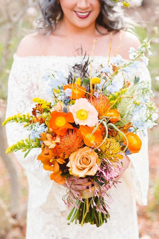Boho Bridal Bouquet by Lark Floral