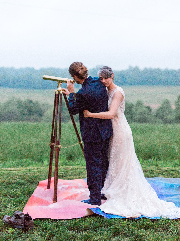 Star gazing at wedding