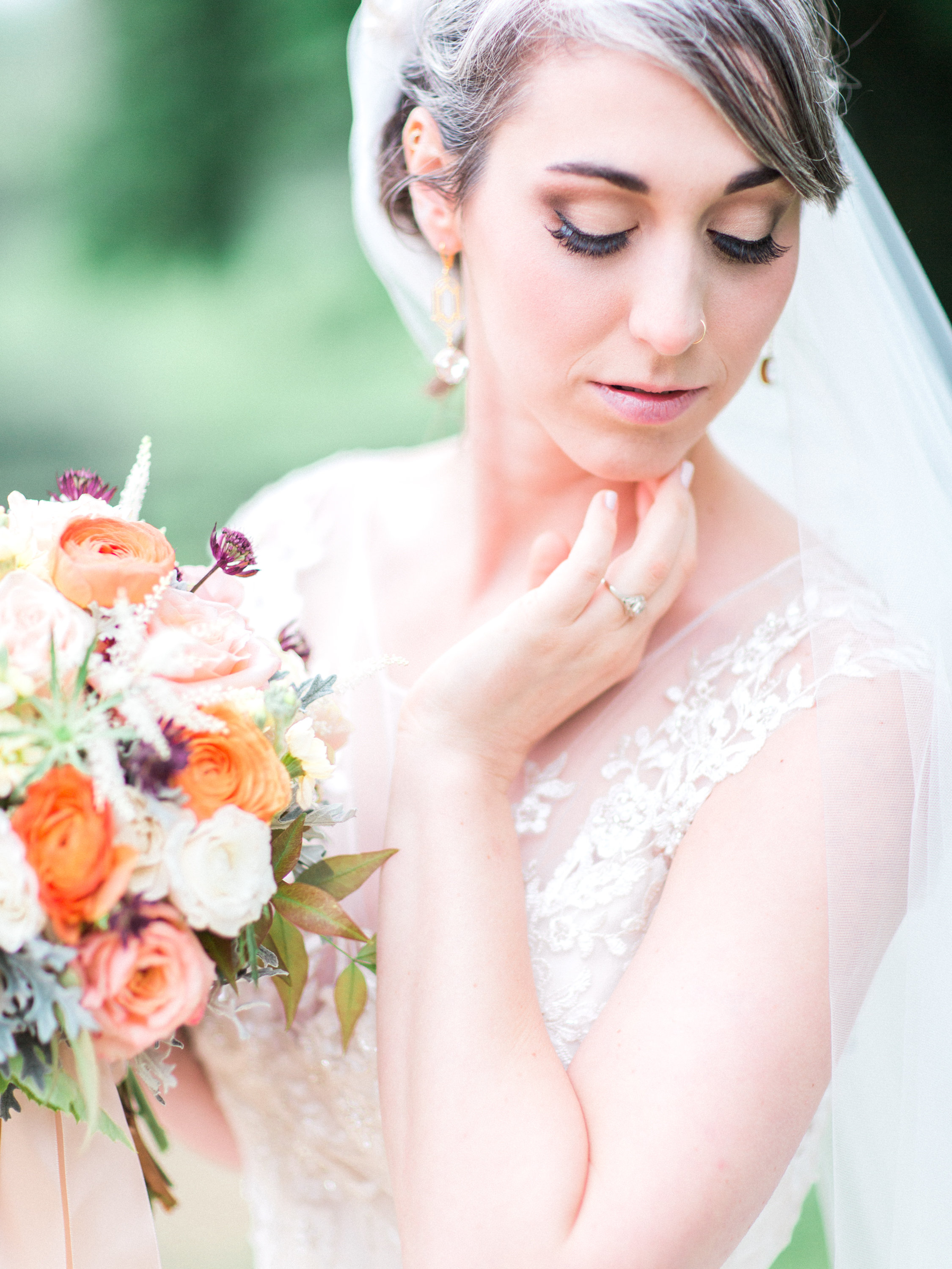 Bridal Portrait by Rebekah Emily at Rixey Manor