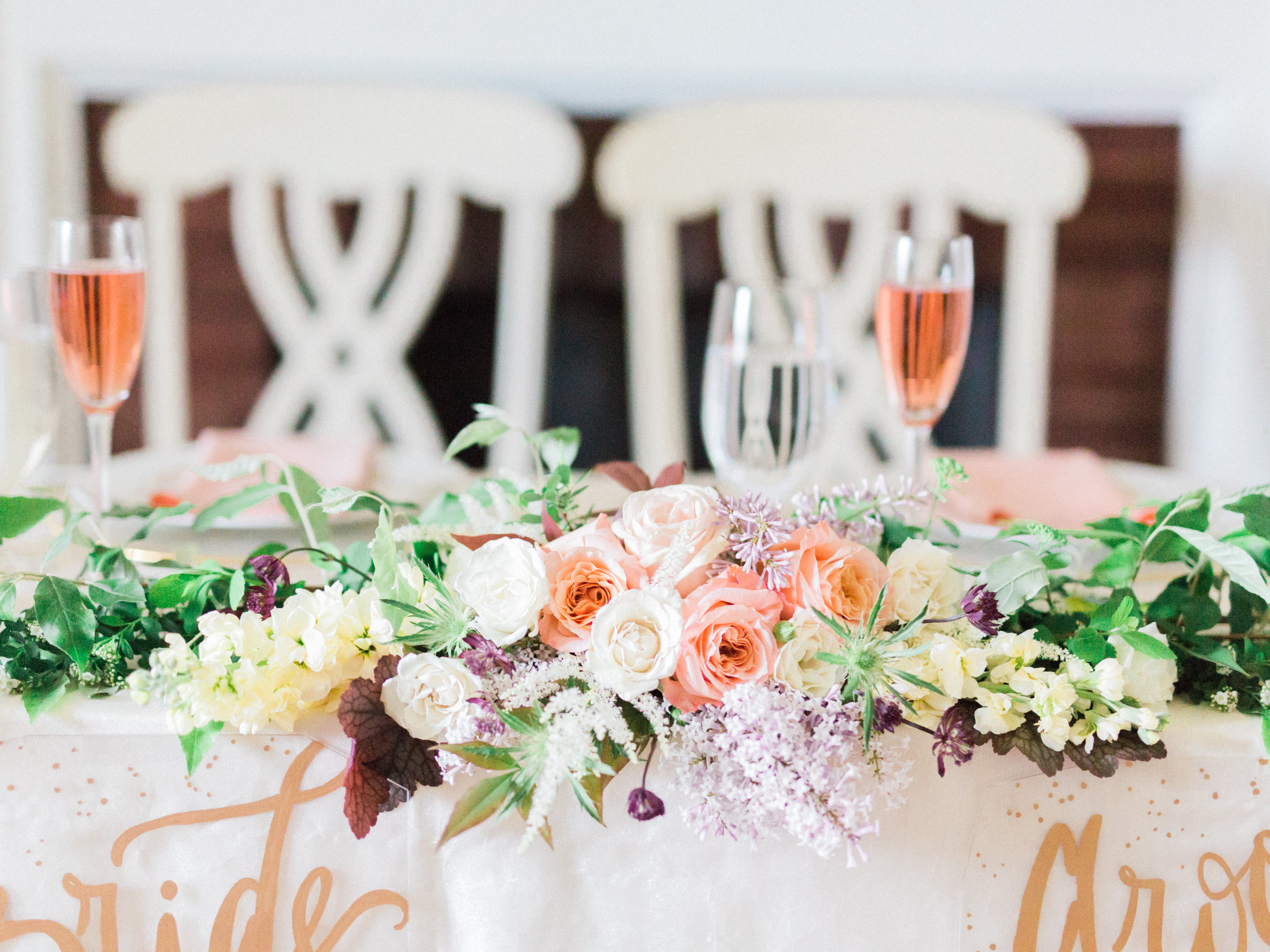 Sweetheart Table at Rixey Manor