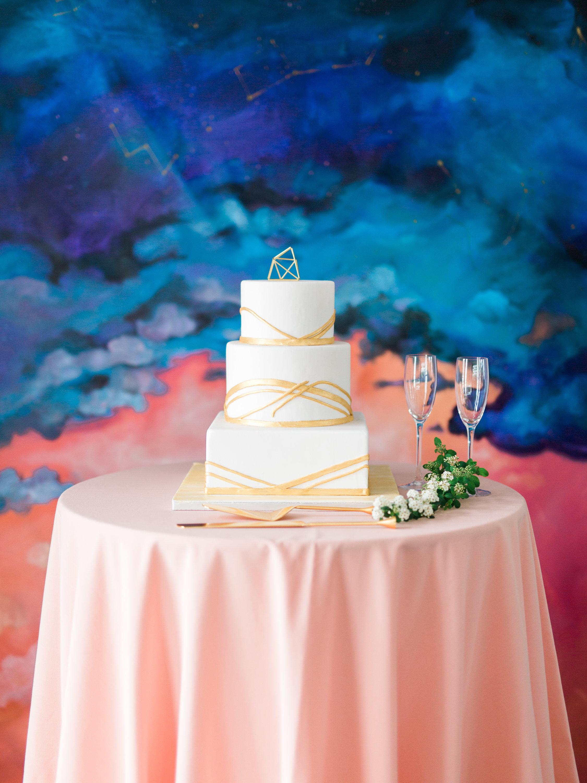 Wedding Cake for astronomy inspired wedding
