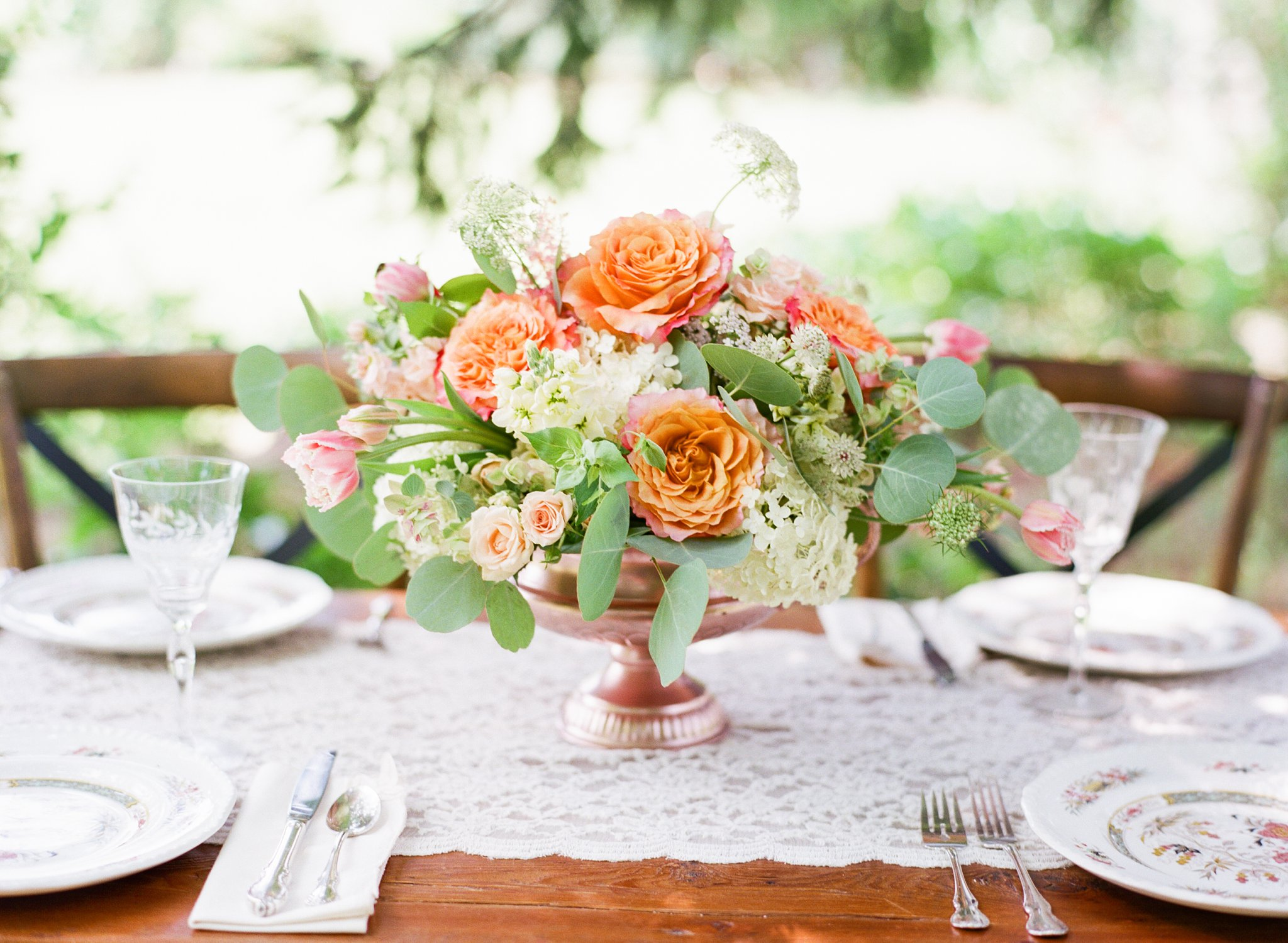 Wedding Centerpiece in Peach