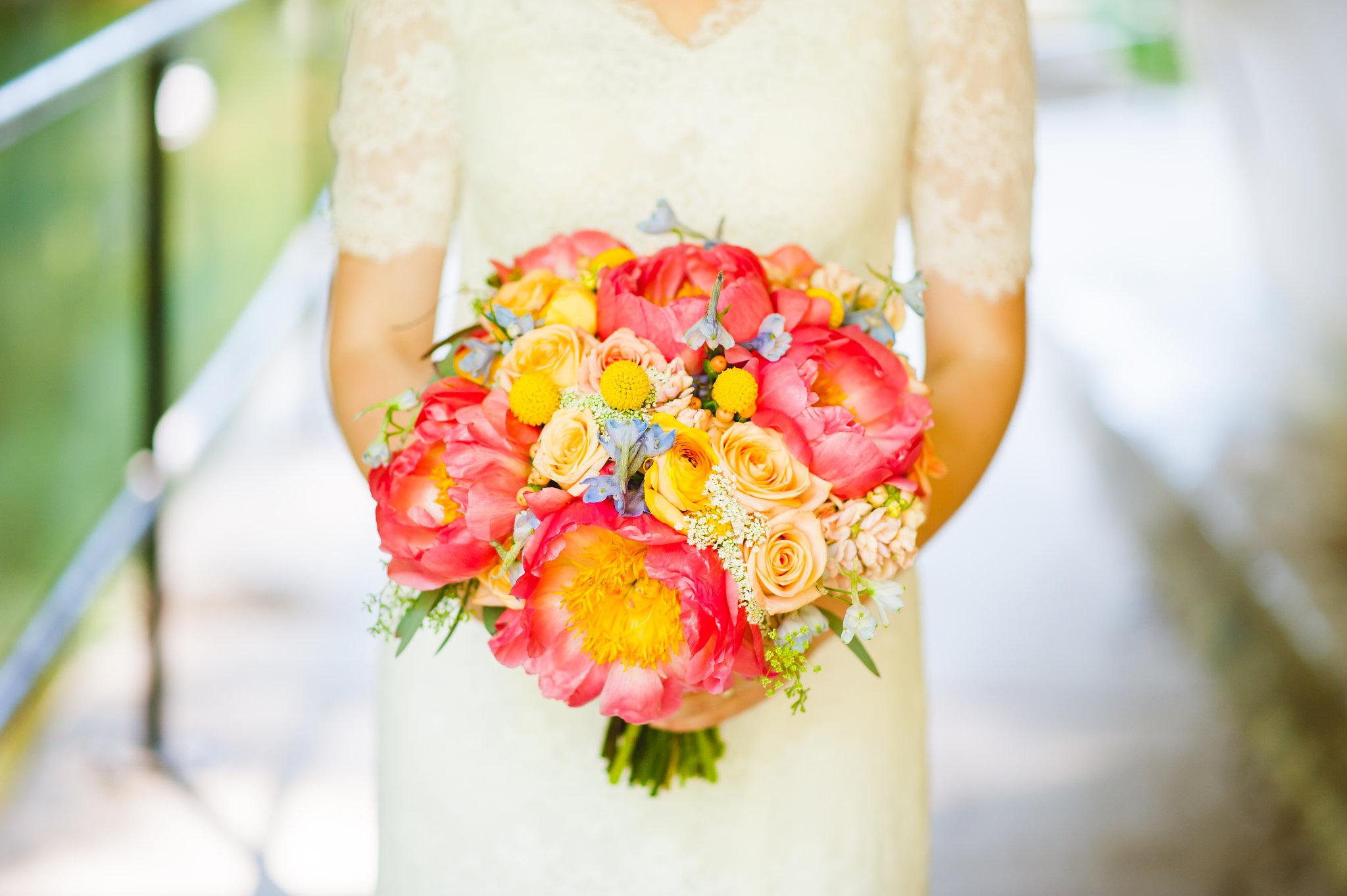 Coral Charm Bridal Bouquet
