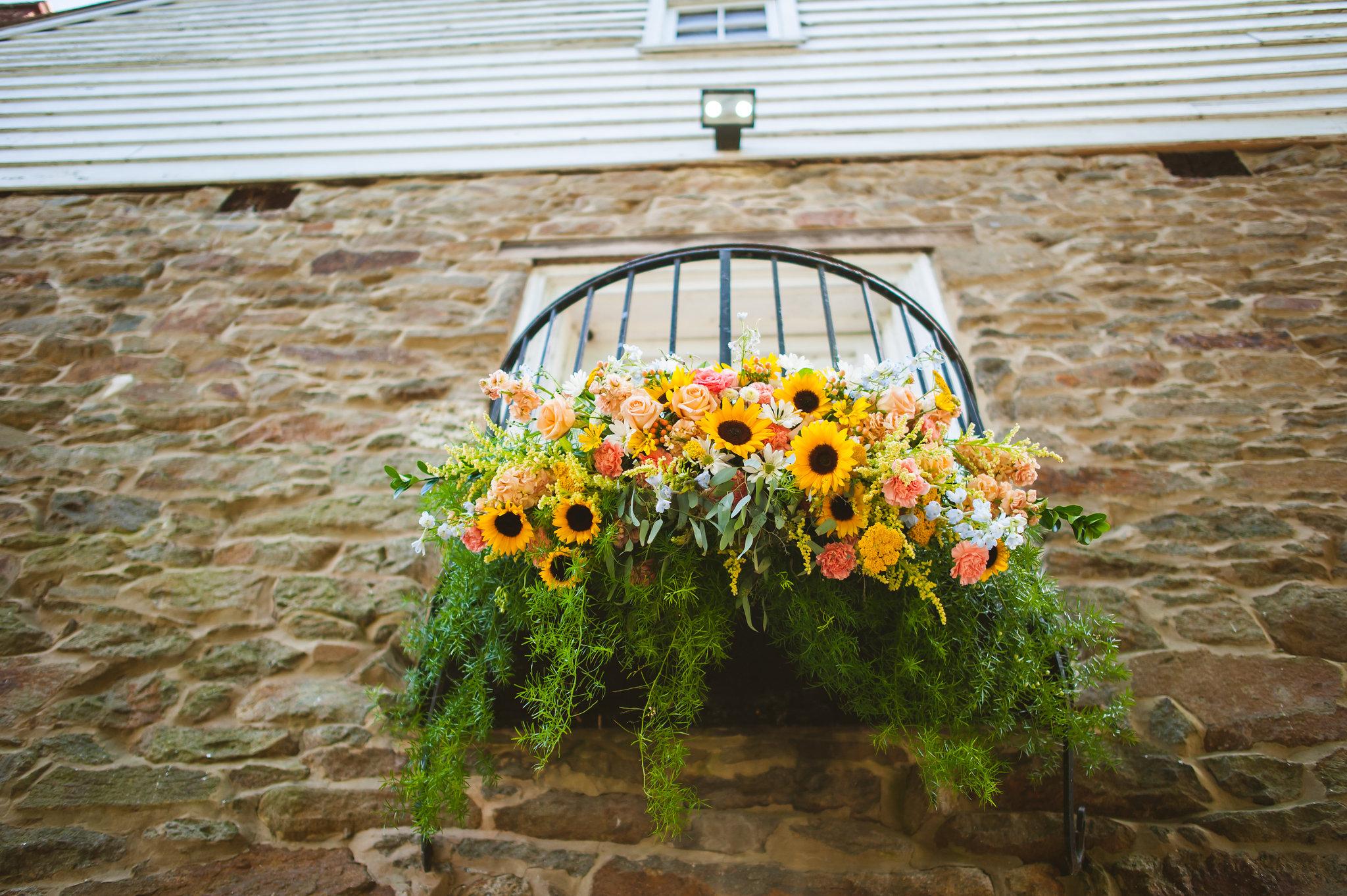 Floral Installation over Doorway