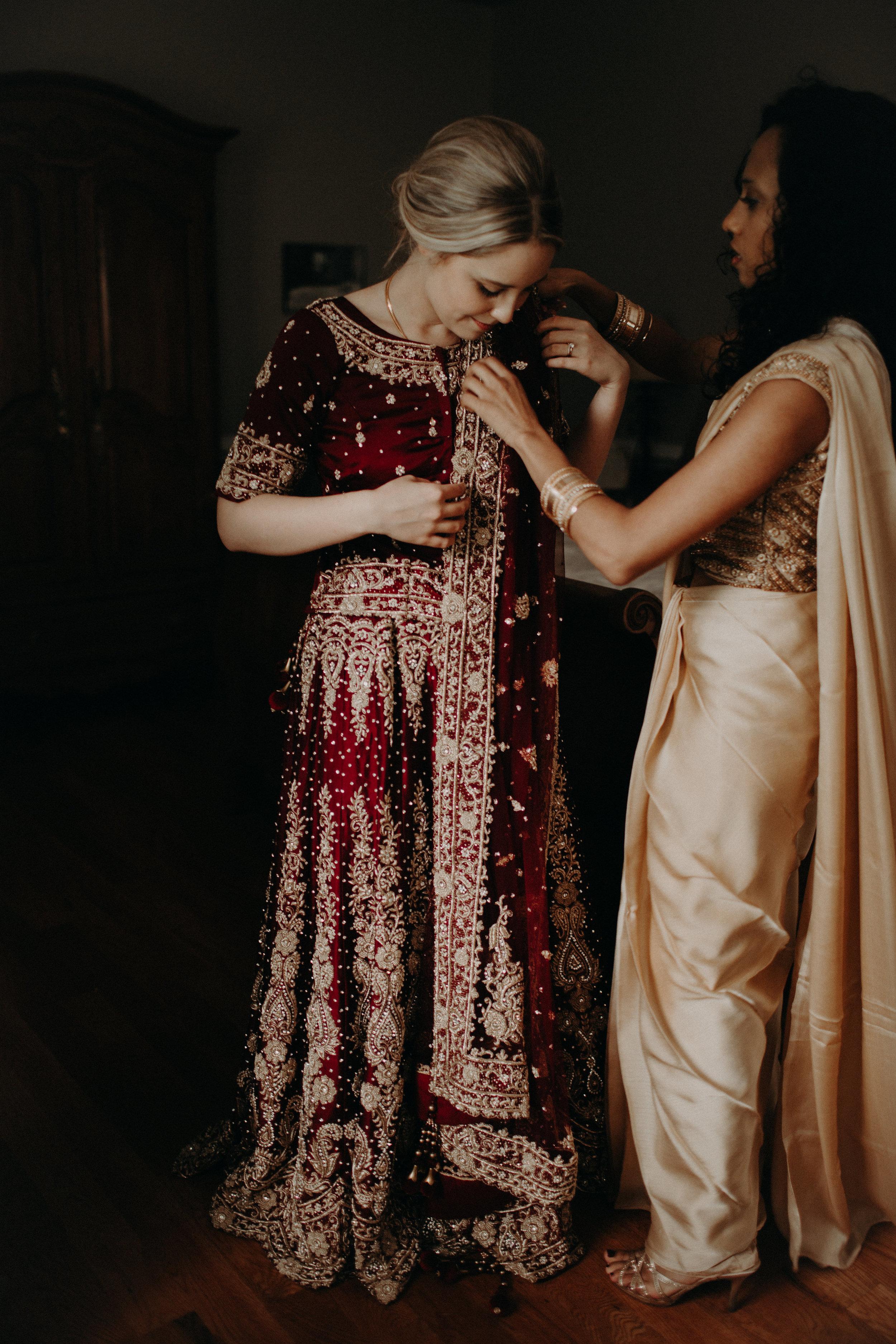Bride in sari