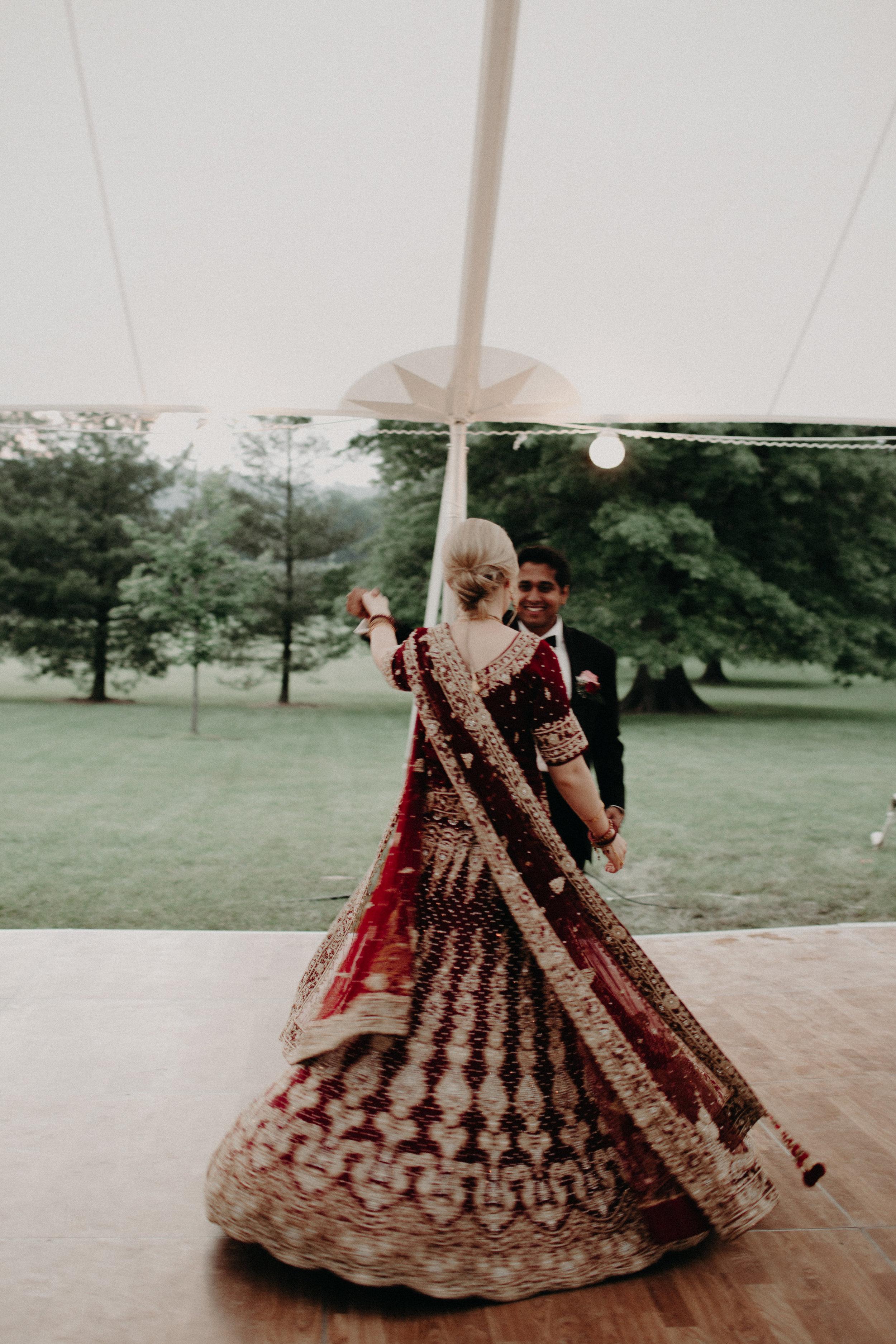 First Dance Bluemont Wedding