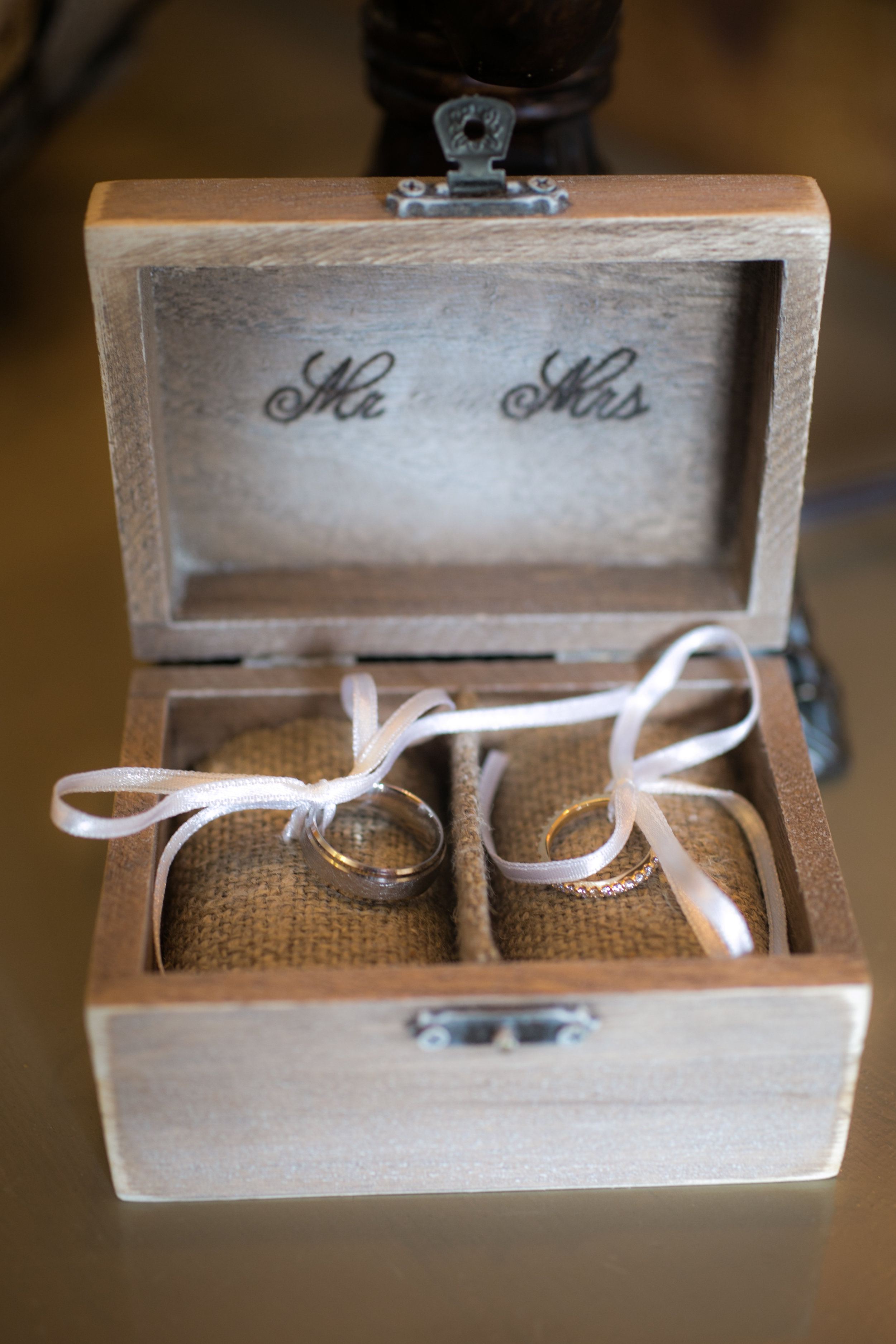 Ring Box for Shadow Creek Wedding