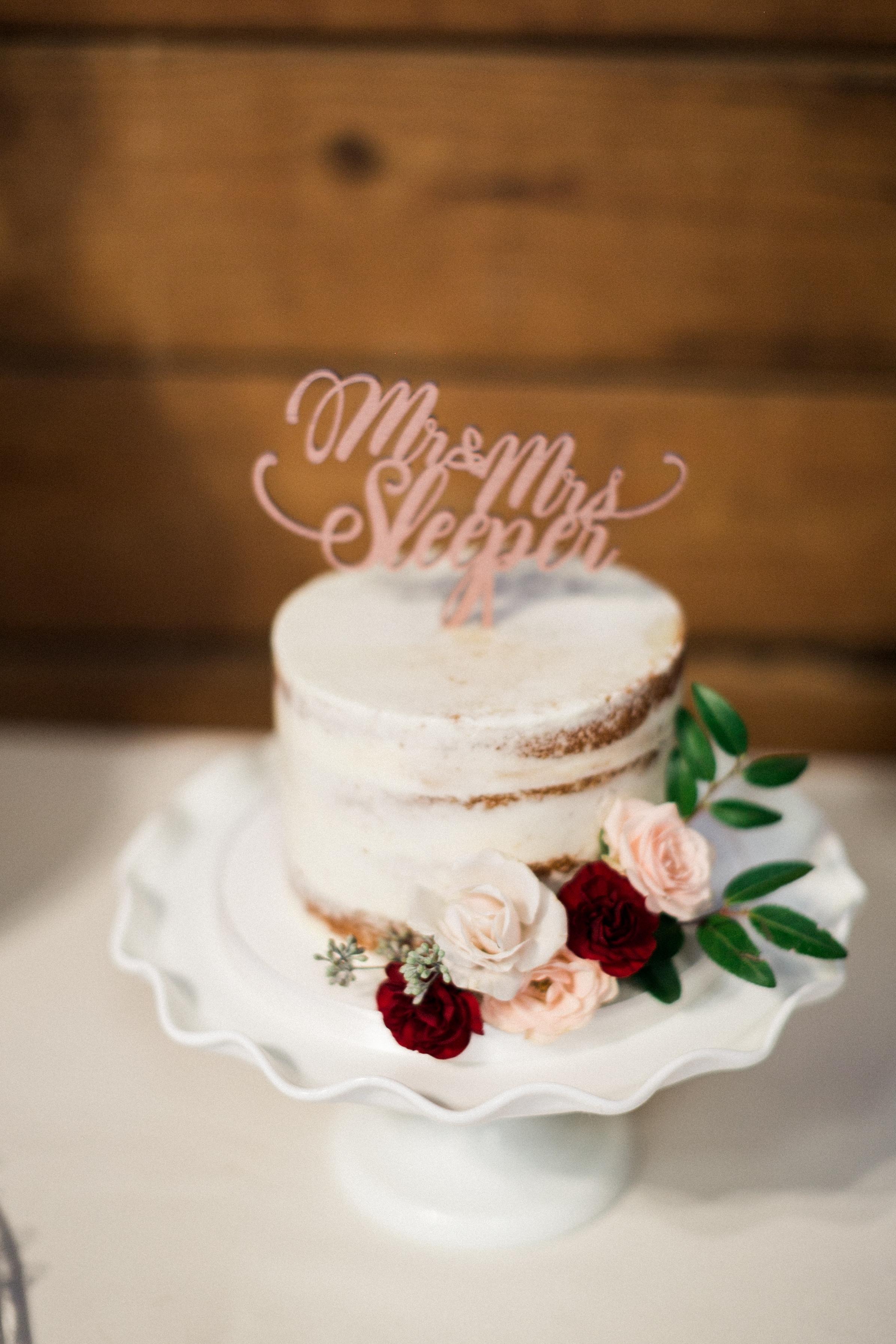 Simple Cake Flowers