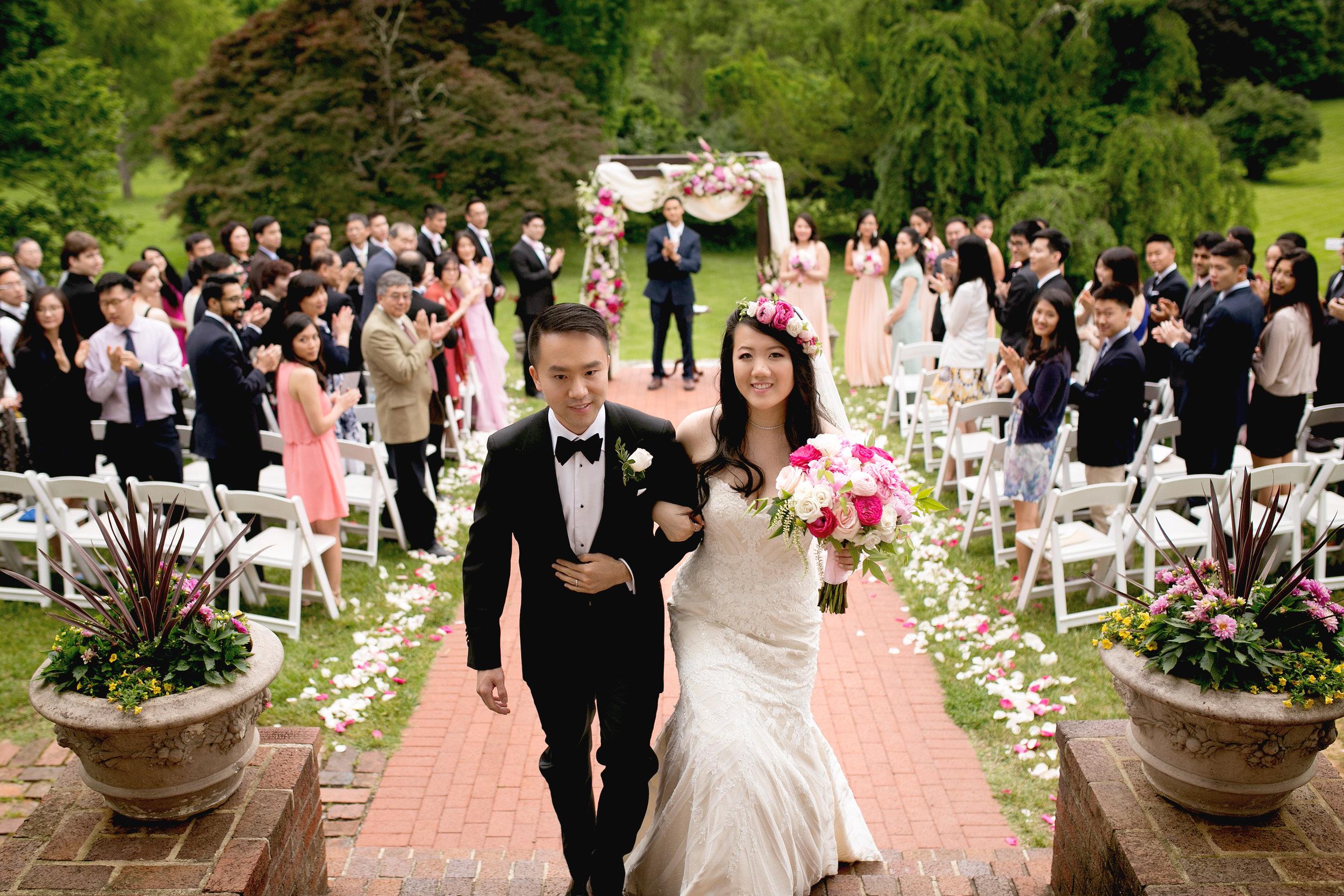 Lark Floral wedding at Historic Rosemont Manor