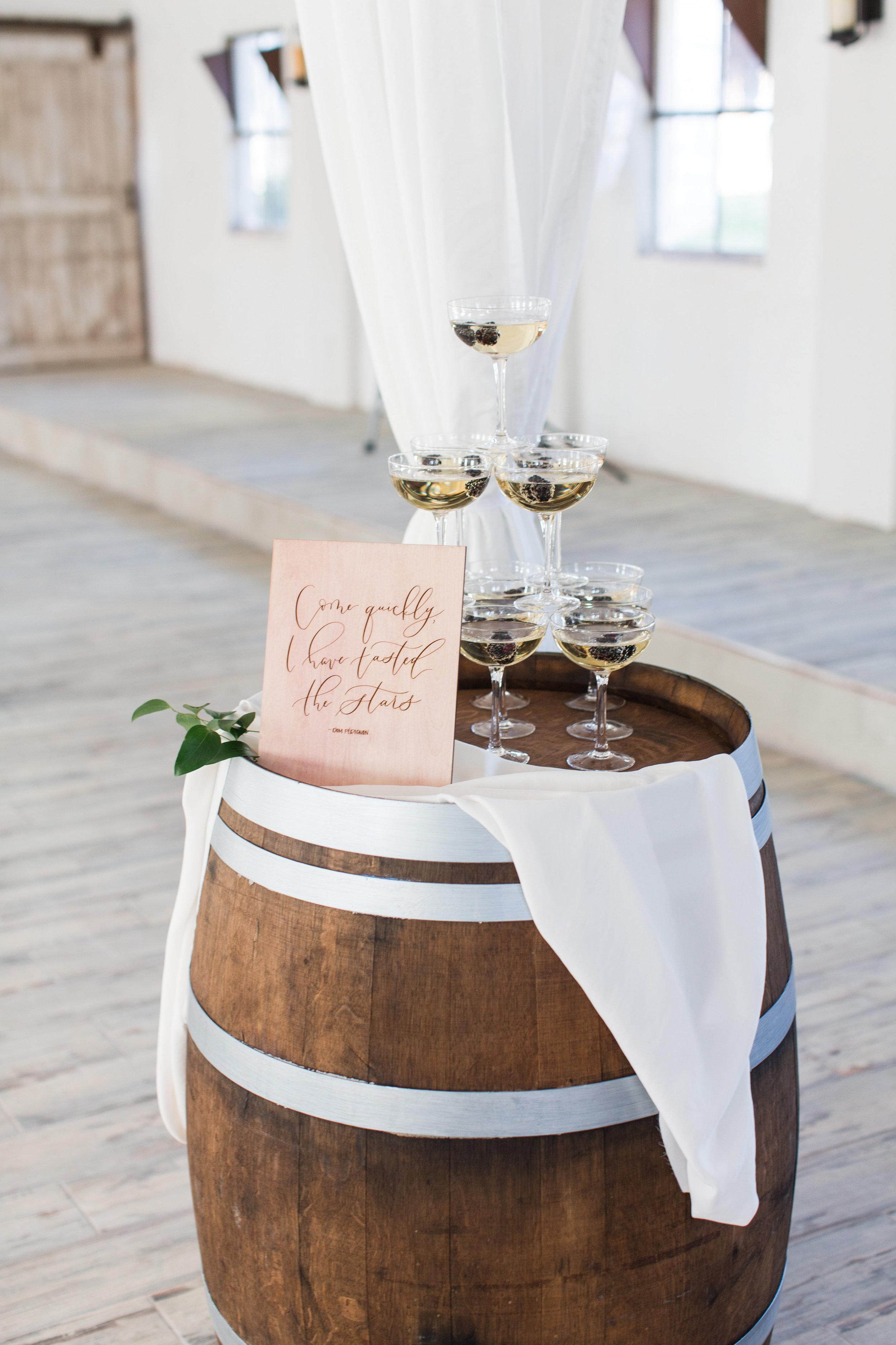 Wine barrel at wedding in Leesburg, VA