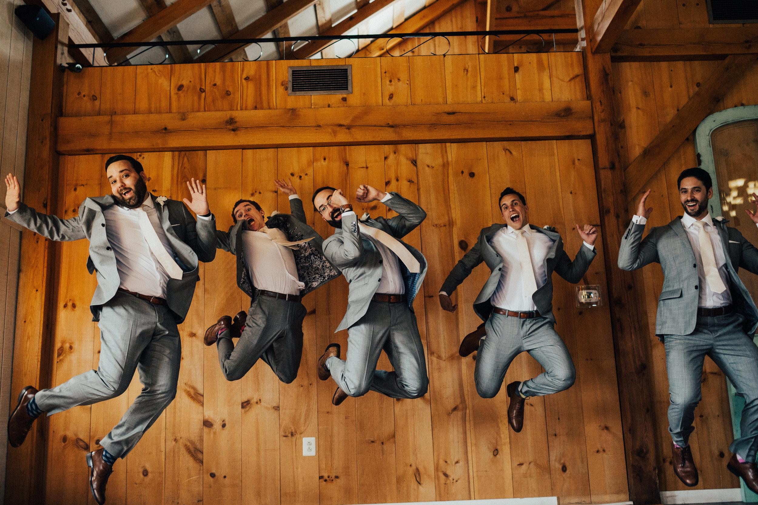 Groomsmen jump