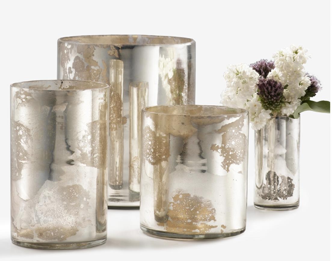 Silver Mercury Glass Cylinder