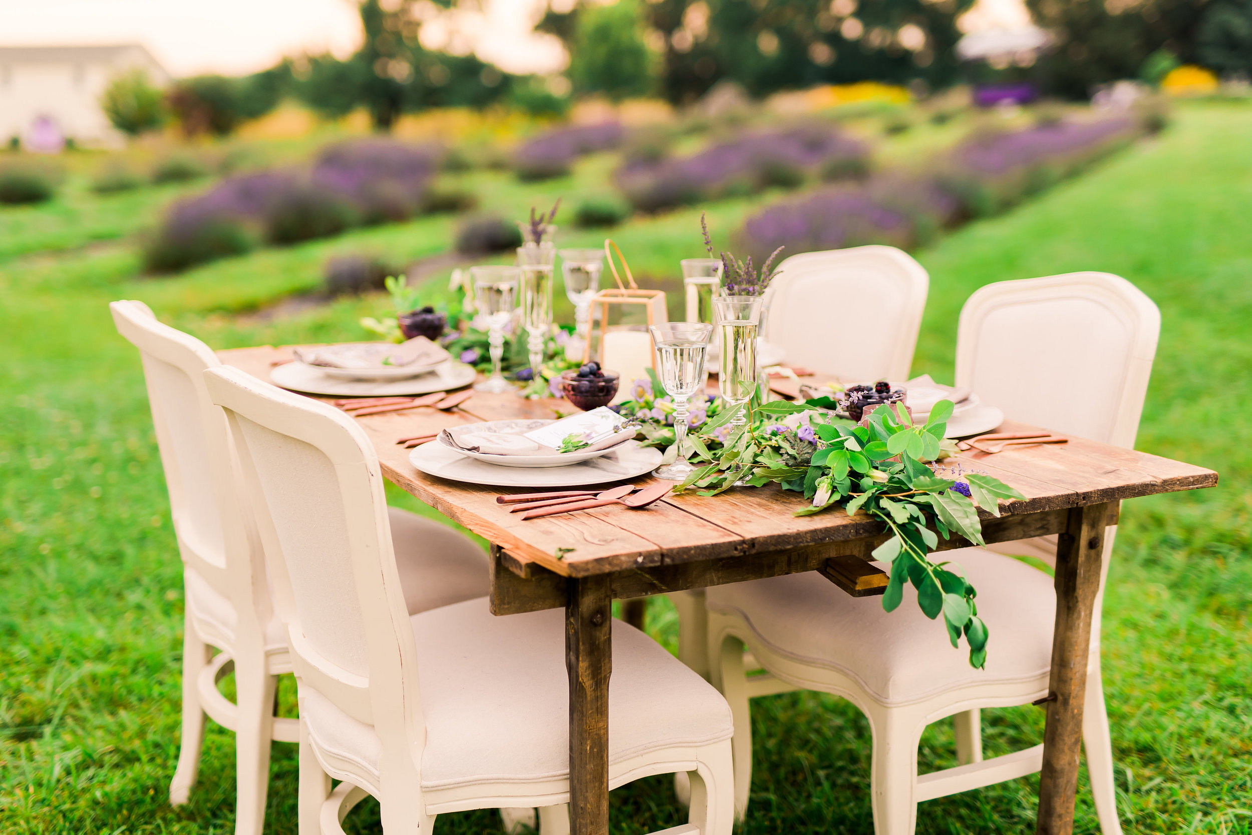 Lavender Wedding Table