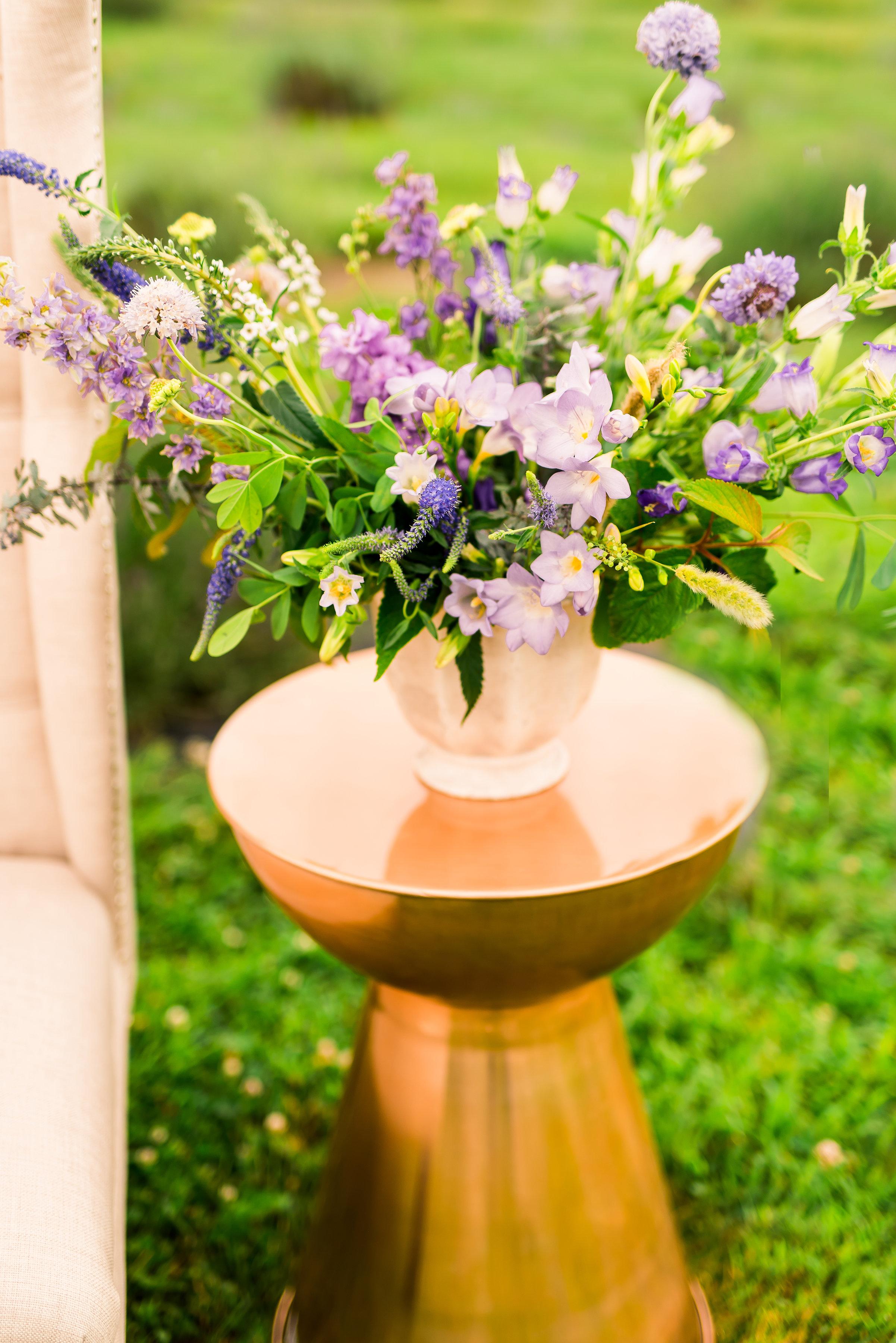 Lavender floral arrangement