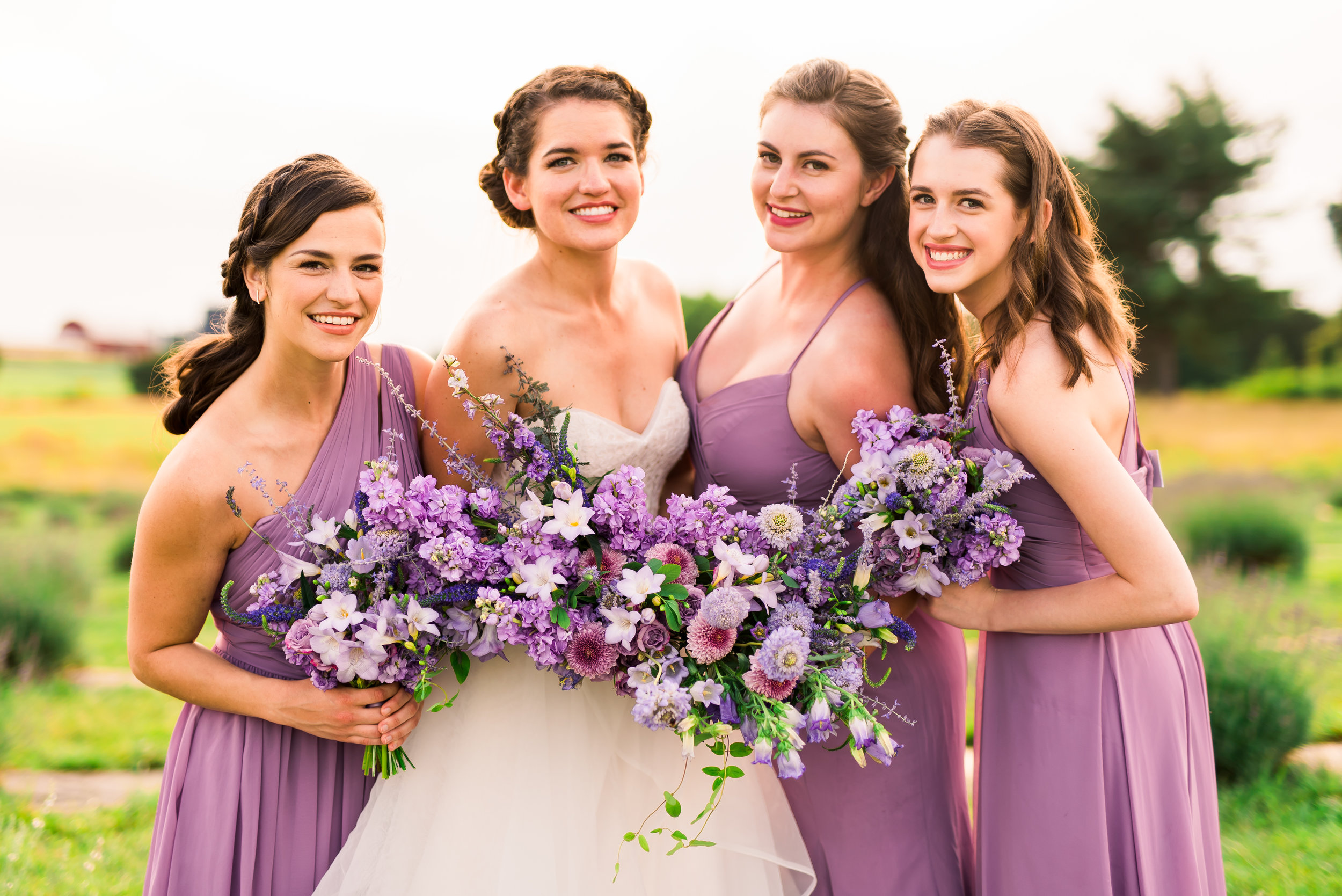 Lavender wedding flowers. Lavender bridesmaid's bouquet. Lavender bridal bouquet by Lark Floral
