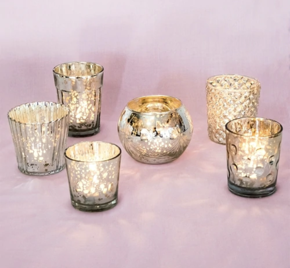 Eclectic Silver Votives