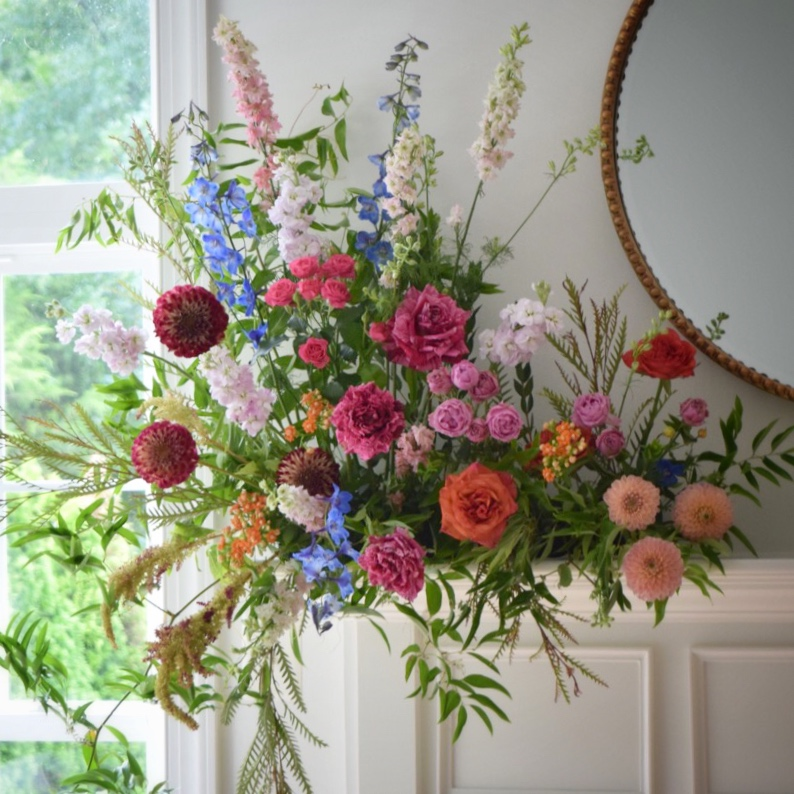 Mantel Flowers by Lark Floral