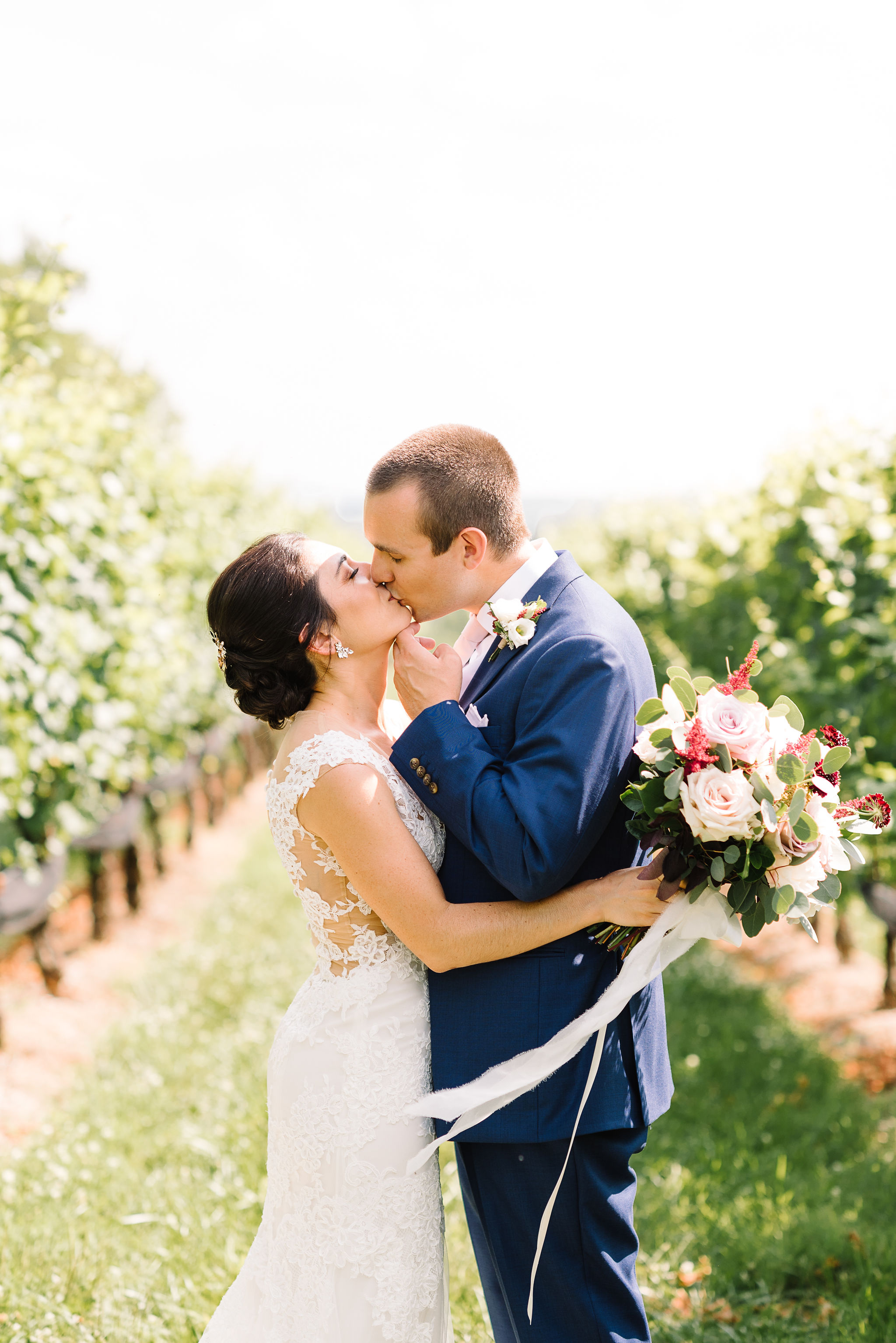 Summer Wedding at Stone Tower Winery  Krysta Norman Photography