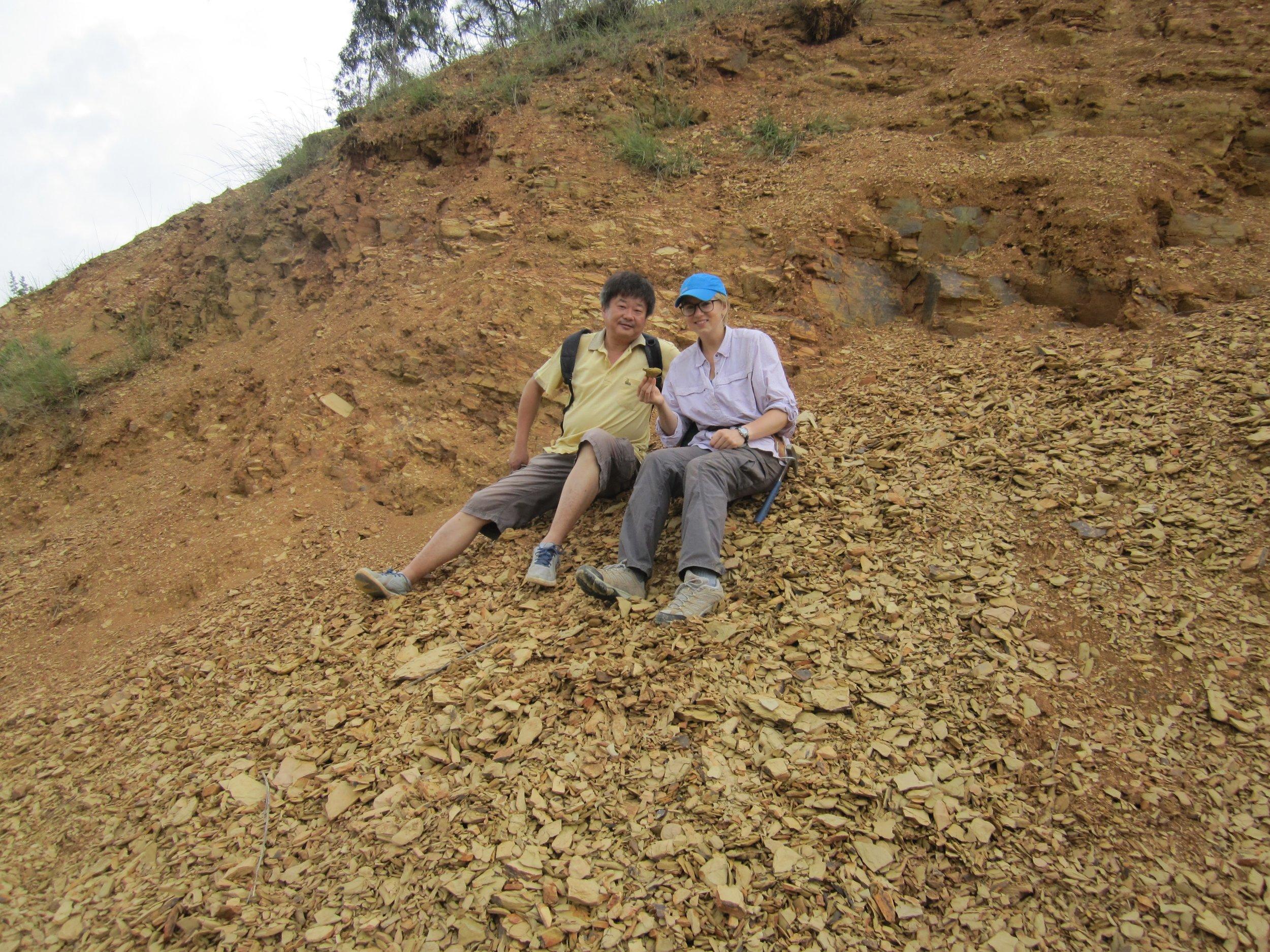 The Cambrian Chengjiang fossils near Kunming, China