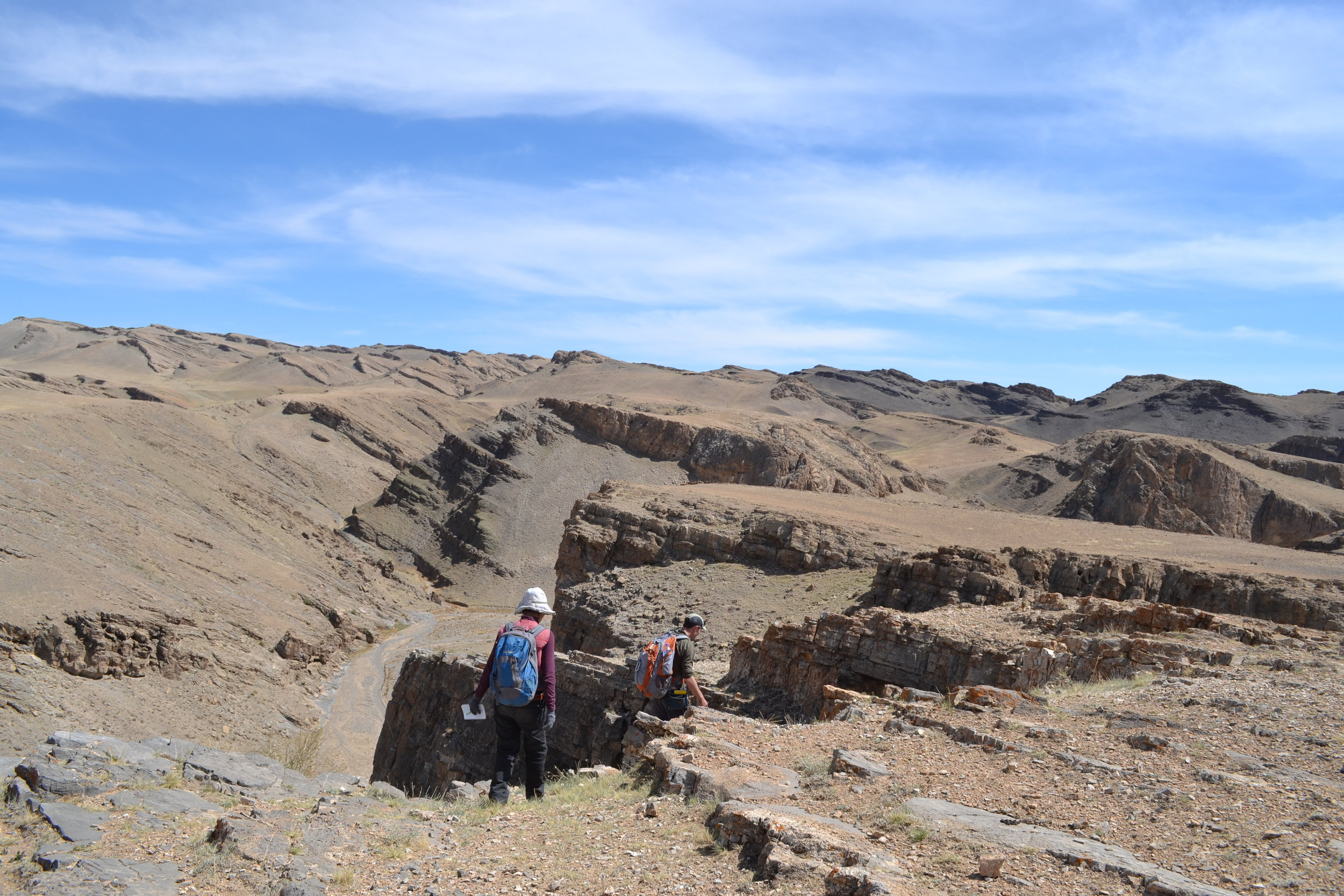 Walking up-section through the Cambrian in southwest Mongolia
