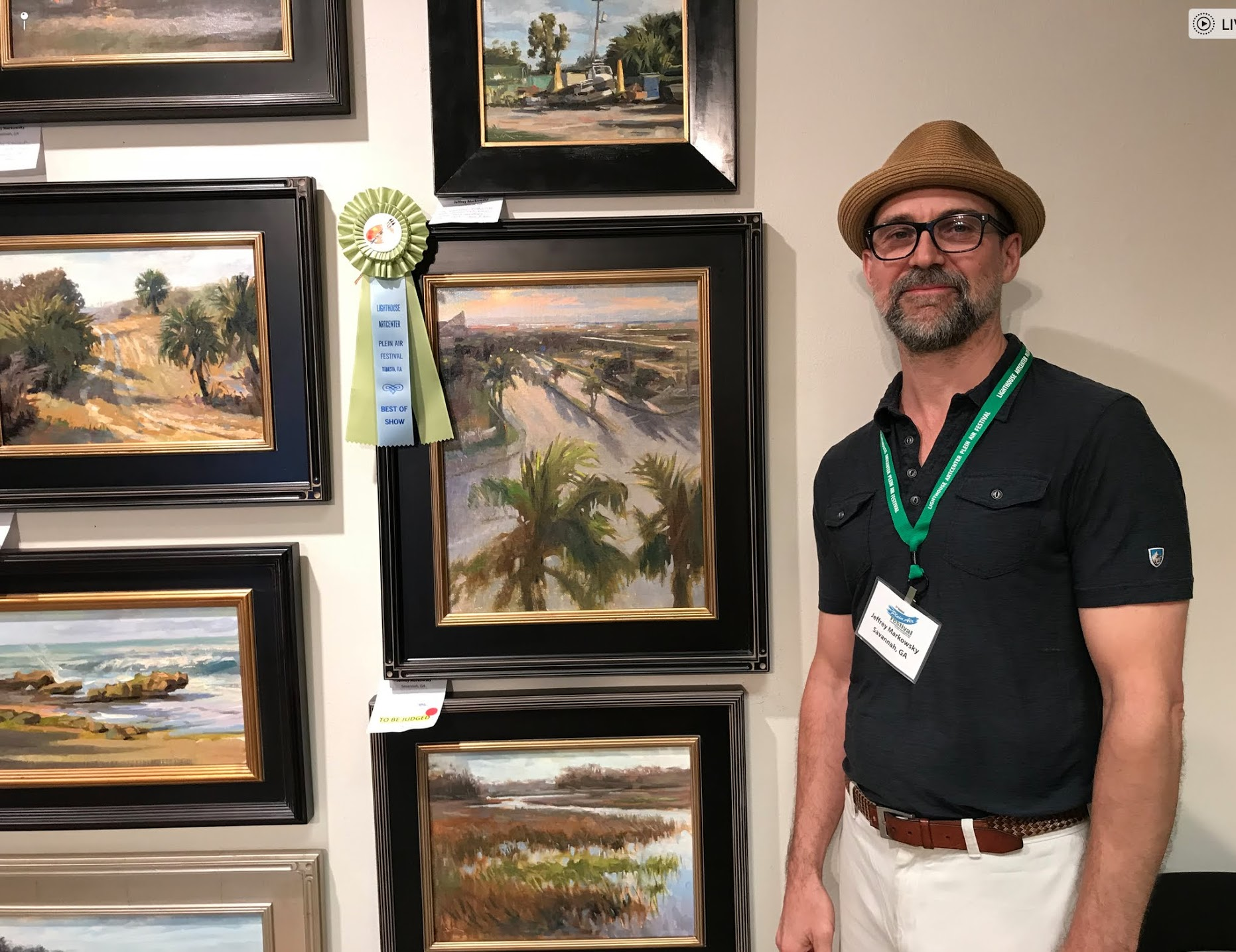 I am incredibly honored and grateful to have been awarded the Grand Prize, Best in Show for my painting 'Jupiter Rising' at the 5th Annual Jupiter Lighthouse Plein Air Festival. Thank you to all the Lighthouse Art Center Organizers, the amazingly supportive and helpful volunteers, judge Nancy Tankersley and all the incredibly inspiring and hard working painters who collaboratively made this an awesome week and a memorable experience for all. Thank you! March 11th 2018
